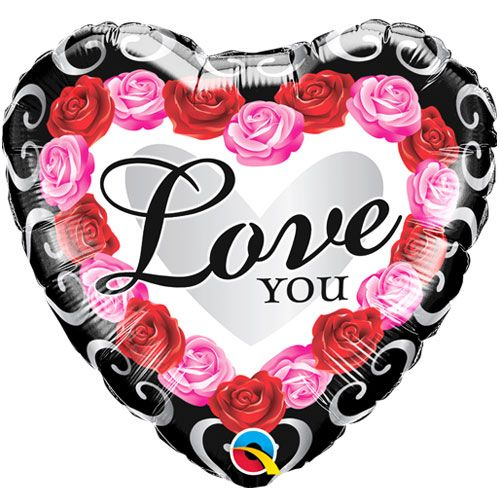 Roses Love You Foil Balloon