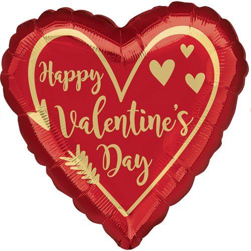 Heart Happy Valentine's Day Foil Balloon