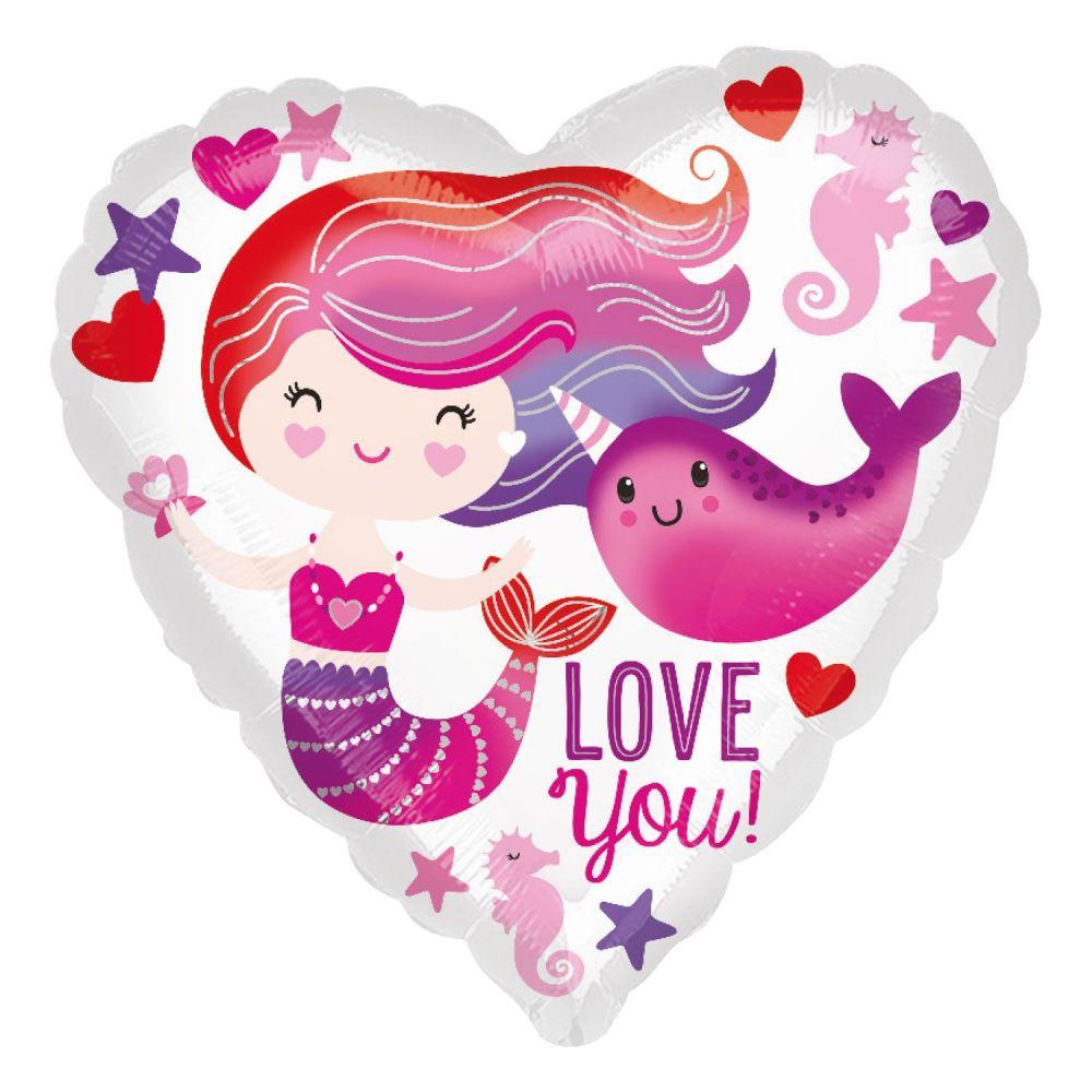 Mermaid Love You! Foil Balloon