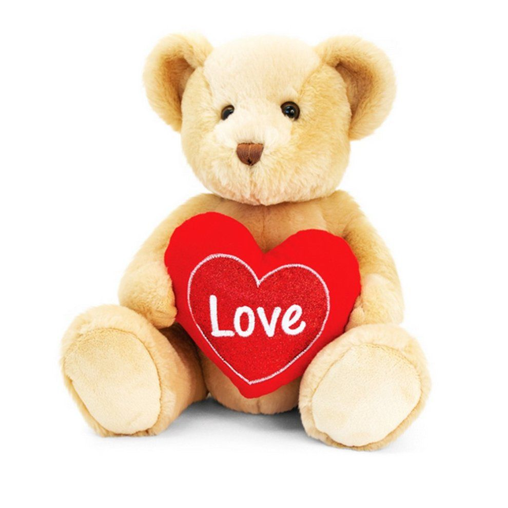 Keel 20cm Brown Chester Bear With Heart