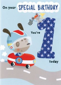 On your Special Birthday You're 1 today - Card