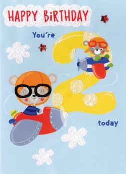 Happy Birthday you're 2 today - Card