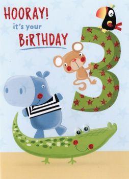 3 Hooray it's your Birthday - Card