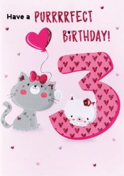 3 Have a purrrrfect Birthday! - Card