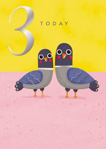 3 Today - Pigeons - Card