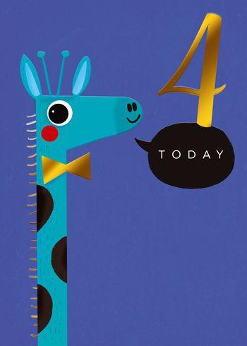 4 Today - Giraffe - Card
