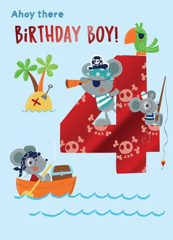4 Ahoy there Birthday boy! - Card