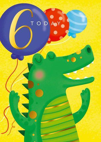 6 Today - Crocodile - Card
