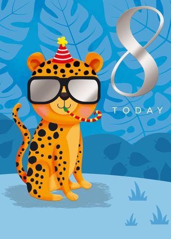 8 Today - Cheetah - Card