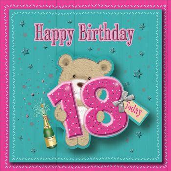 Happy Birthday 18 Today - Boxed Card