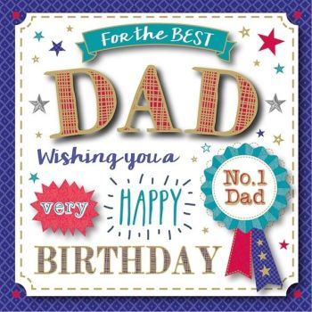 For The Best Dad Happy Birthday - Boxed Card