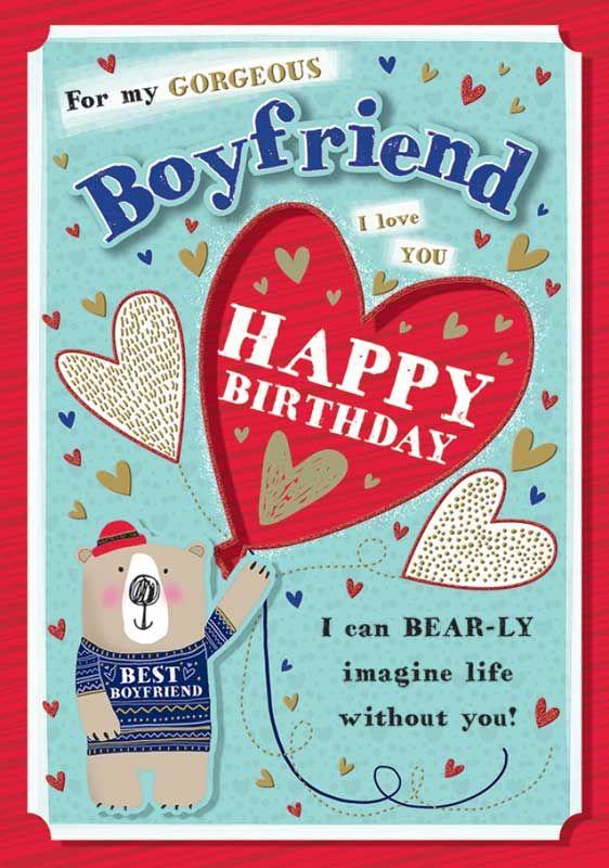 For My Gorgeous Boyfriend Happy Birthday - Boxed