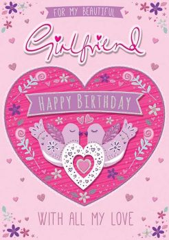 For My Beautiful Girlfriend Happy Birthday - Boxed Card