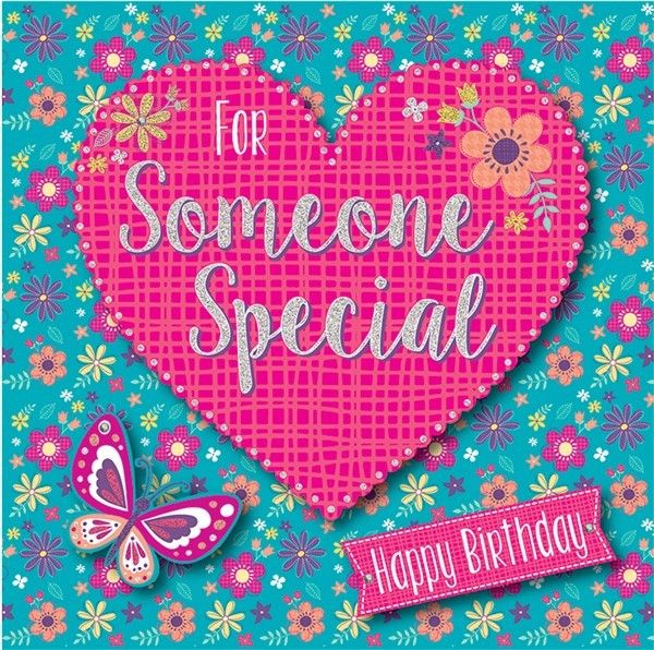 For Someone Special Happy Birthday - Boxed Card