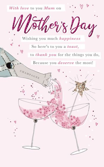 With love to you MUM on Mother's Day - Card