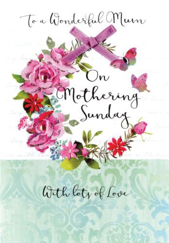 Handmade To A Wonderful Mum On Mothering Sunday With Lots Of Love - Card