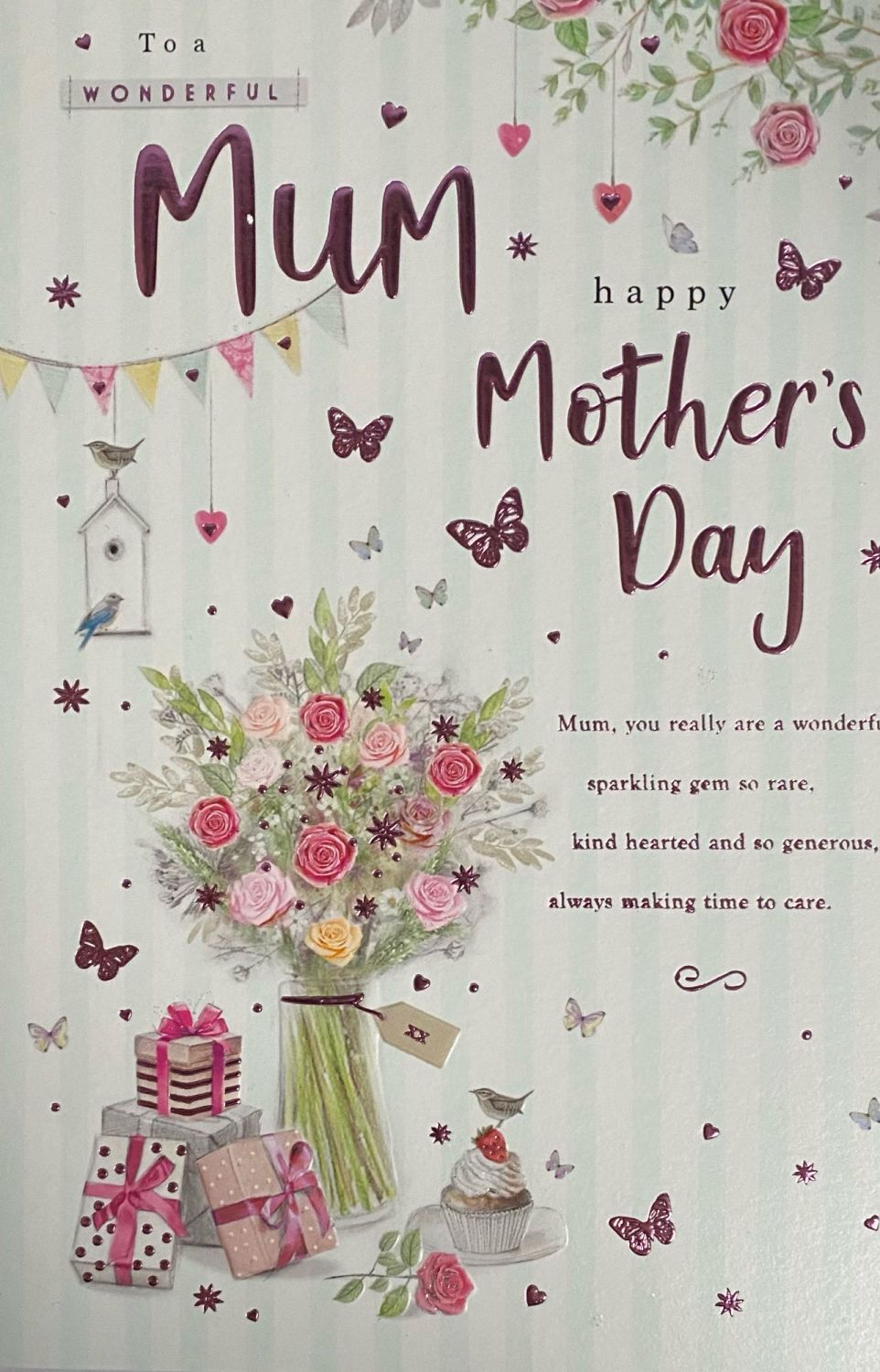 To A Wonderful Mum Happy Mother's Day - Card