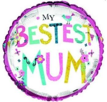 My Bestest Mum Foil Balloon