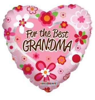 For The Best Grandma Foil Balloon