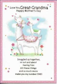 Love You, Great Grandma Happy Mother's Day - Card