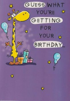 Guess What You're Getting ... - Birthday Card