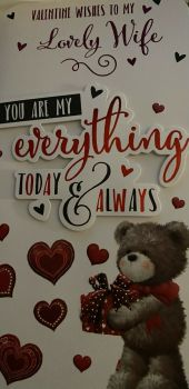 Valentine's Day Card To My Lovely Wife - You Are My Everything Today & Always