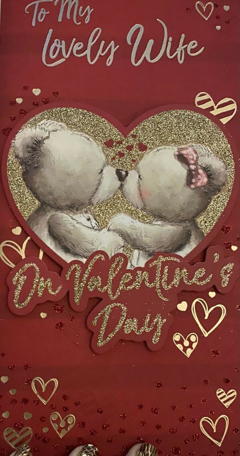 Valentine's Day Card To My Lovely Wife - Teddies