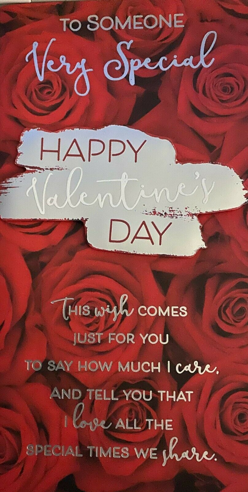 Valentine's Day Card To Someone Very Special - Happy Valentine's Day - Rose