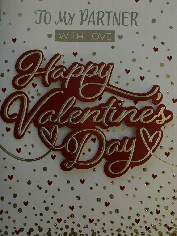 Valentine's Day Card To My Partner - Happy Valentines Day