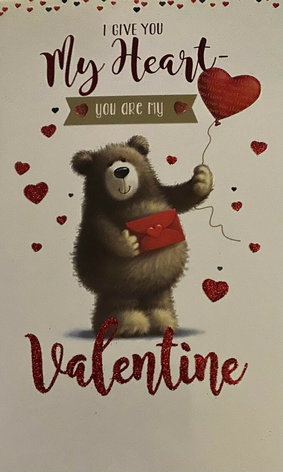 I Give You My Heart You Are My Valentine - Valentine's Day Card