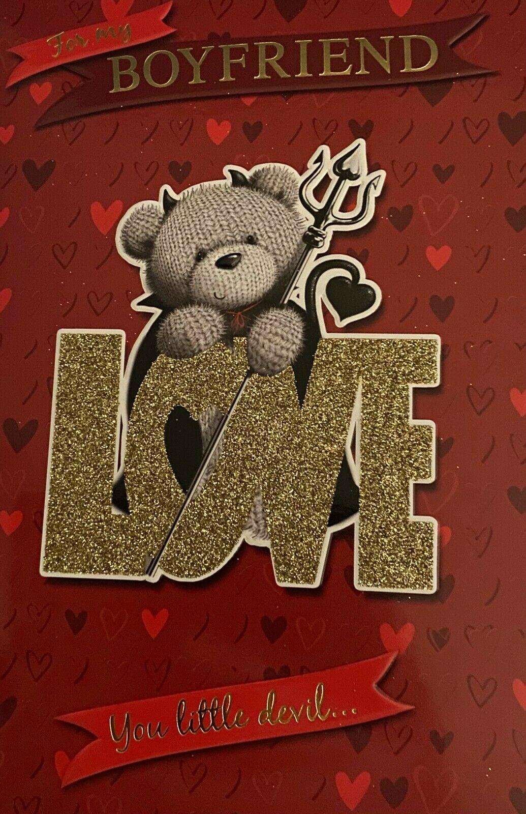 To My Boyfriend Love You Little Devil ... - Valentine's Day Card