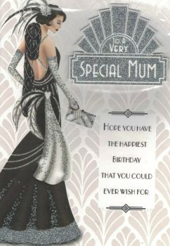 Art Deco Birthday Card - To A Very Special Mum