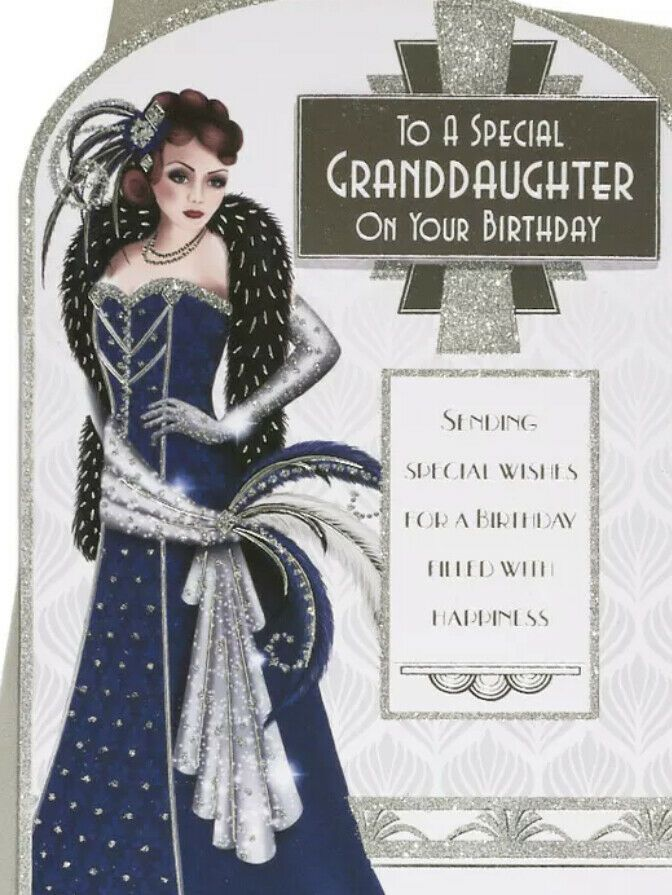 Art Deco Birthday Card - To A Special Granddaughter On Your Birthday