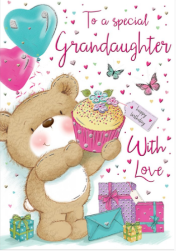 To A Special Granddaughter With Love - Birthday Card