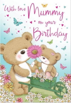 With Love Mummy On Your Birthday - Card