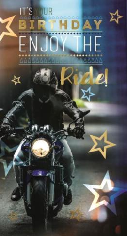 It's Your Birthday Enjoy The Ride! Men's - Birthday Card