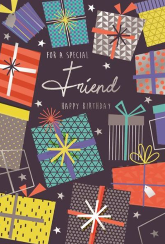 For A Special Friend Happy Birthday Male - Birthday Card