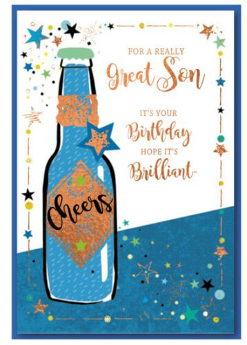 For A Really Great Son It's Your Birthday Hope It's Brilliant - Birthday Ca