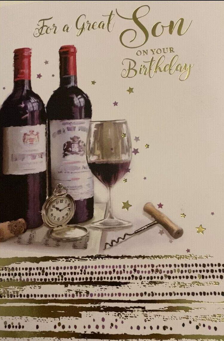 For A Great Son On Your Birthday - Card