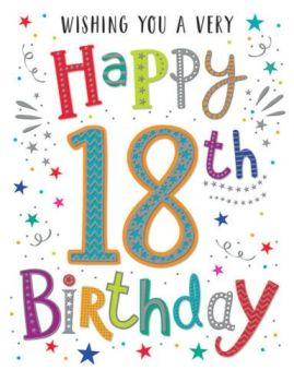 Wishing You A Very Happy 18th Birthday - Card