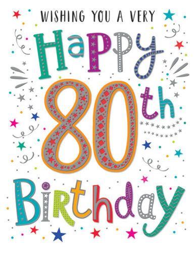 Wishing You A Very Happy 80th Birthday - Card