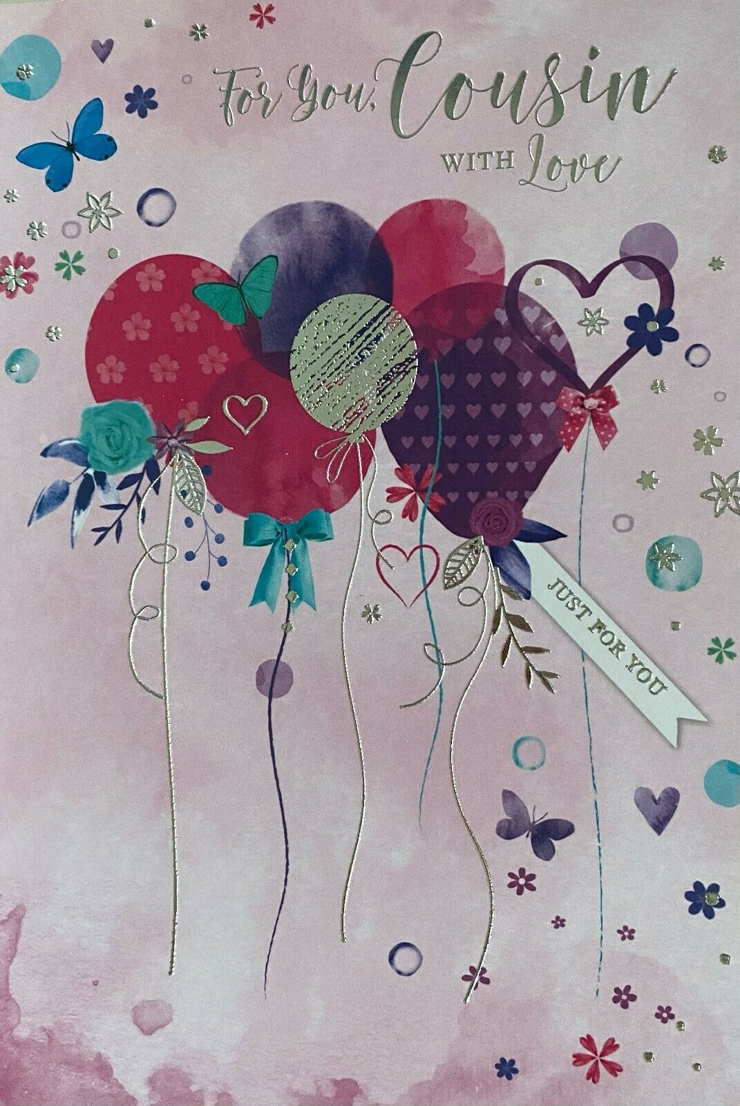 For You, Cousin With Love - Birthday Card