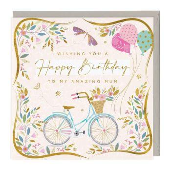 Amazing Mum Happy Birthday - Card