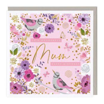 Pretty Flowers Wonder Mum Birthday Card
