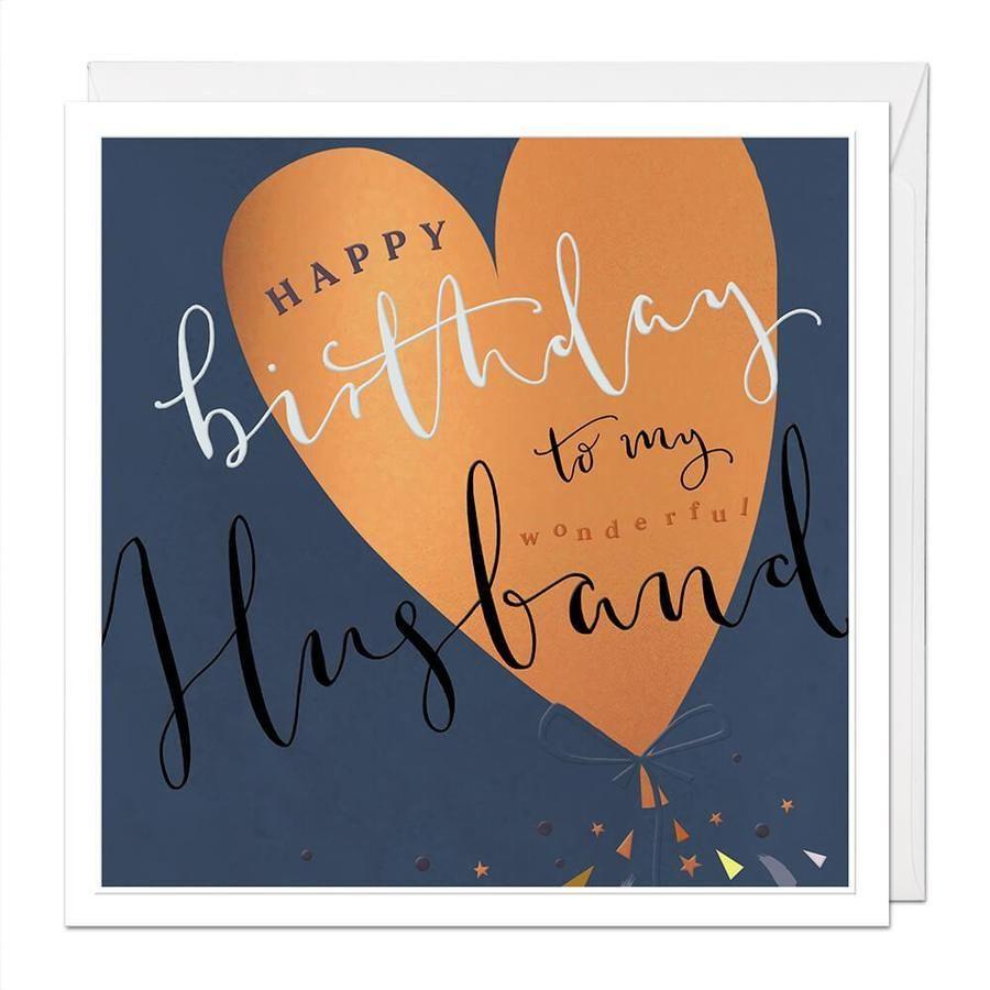 Happy Birthday To My Wondeful Husband - Card