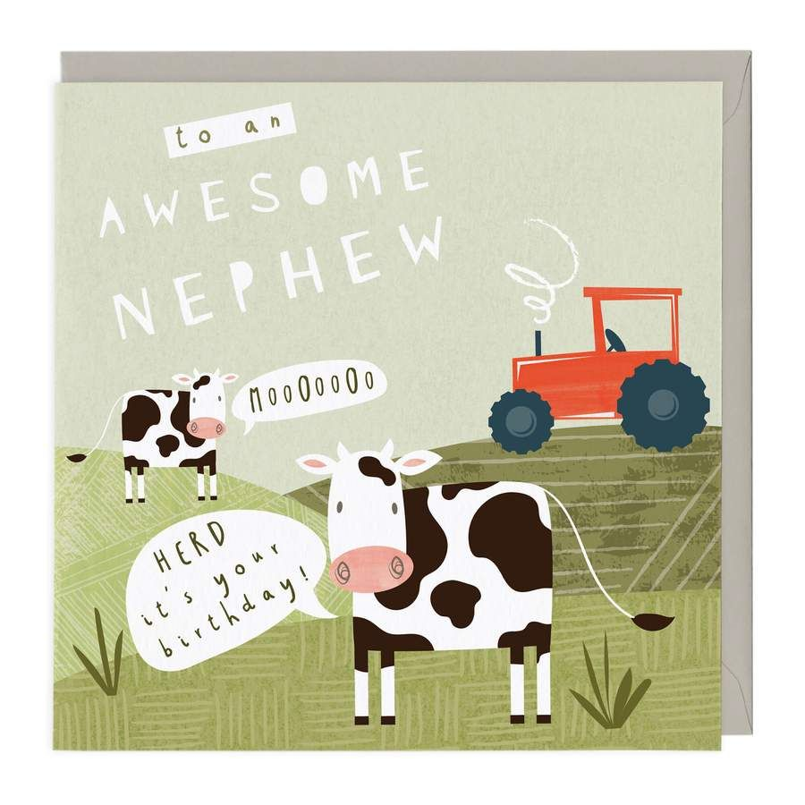 Nephew Herd It's Your Birthday Card