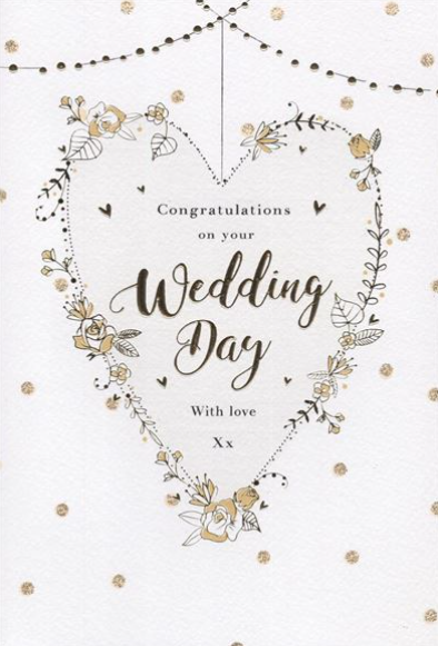 Congratulations On Your Wedding Day With Love - Card