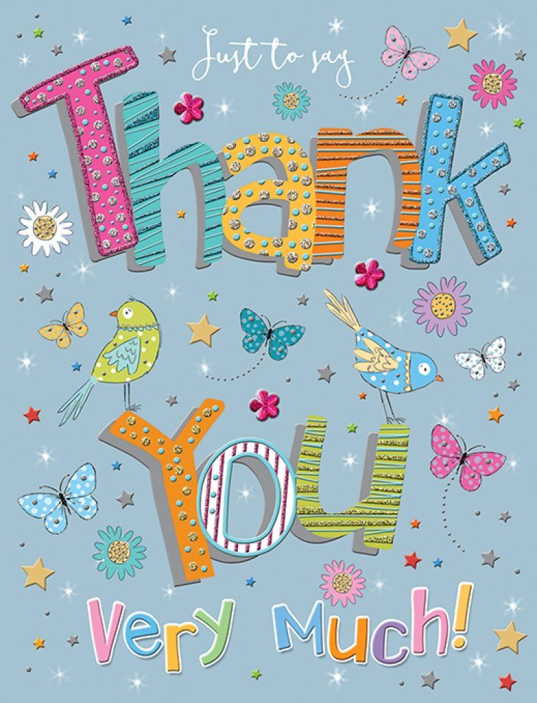 Just To Say Thank You Very Much! - Handmade Card