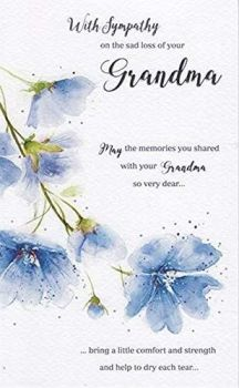 With Sympathy On The Sad Loss Of Your Grandma - Card