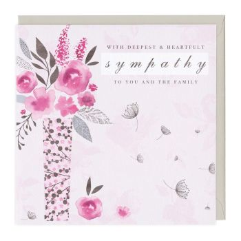 With Deepest & Heartfelt Sympathy To You And The Family - Card